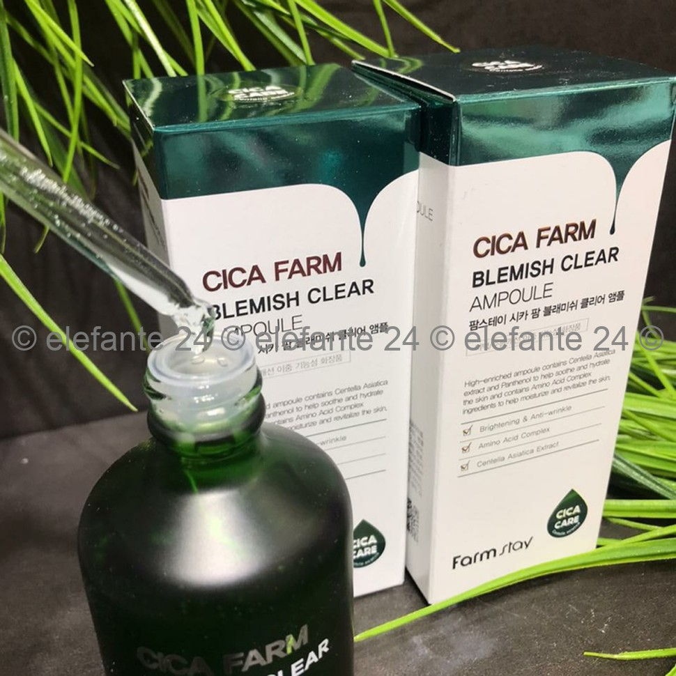Сыворотка FarmStay Cica Farm Blemish Clear Ampoule, 100 мл (78)
