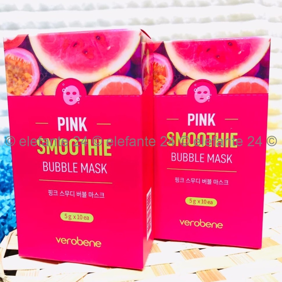 Маски кислородные Verobene Pink Smoothie Bubble Mask (125)