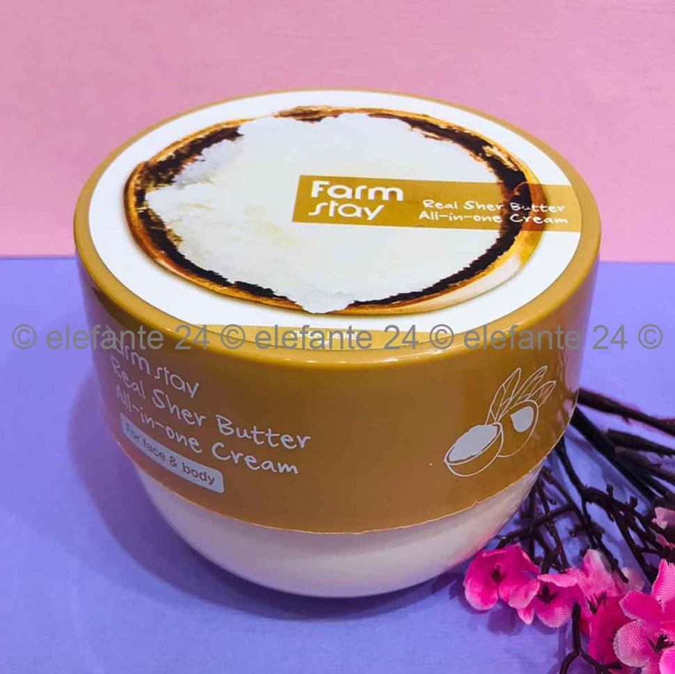 Крем для лица и тела FarmStay Real Shea Butter All-In-One Cream, 300 мл (78)